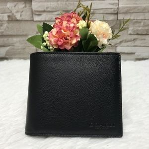"""👜COACH🌺COMPACT ID WALLET 3 3/4"""""""